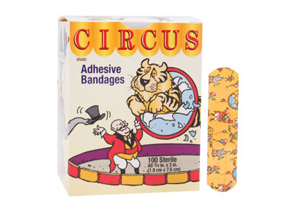 BANDAGE ADHESIVE 3/4X3IN CIRCUS FLEX STRIP STAT STRIP