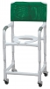 "Lumex 18"" PVC Shower Commode Chair with Adjustable Height"