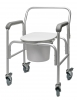 COMMODE ALM 3-IN-1 W/BACKREST