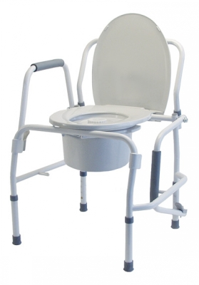Lumex Silver Collection Steel Drop Arm 3-in-1 Commode