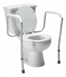 Lumex Versaframe Toilet Safety Rail in Retail Packaging, Adjustable Height