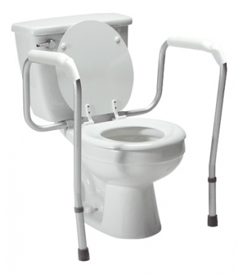 Lumex Versaframe Toilet Safety Rail , Adjustable Height