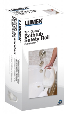 "Lumex Tub-Guard® Bathtub Safety Rails, Standard - 12"" Height"