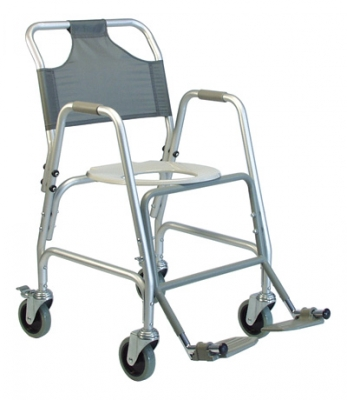 Deluxe Shower Transport Chair with Footrests - *Freight Exception