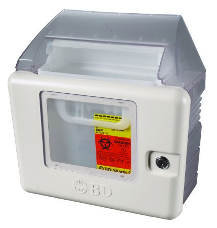 BD™ sharps collector locking wall cabinet for 5.4 qt.