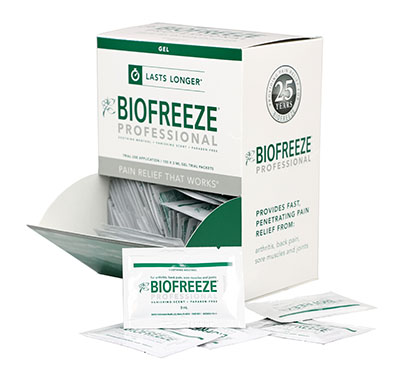 BioFreeze® Professional Lotion - 5 gram dispenser, 100 packets: