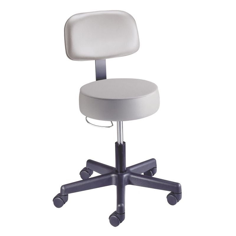 Brewer New-Matic Stool with Backrest, #301 Black