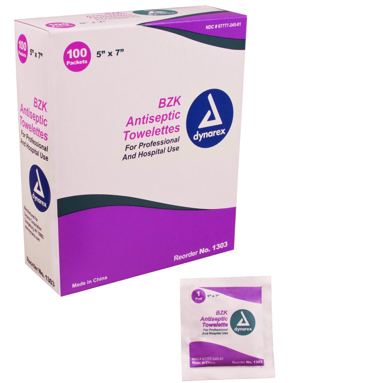 """BZK Antiseptic Towelettes - 5"""" x 7"""""""