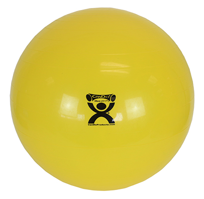 CanDo® Inflatable Exercise Ball - Yellow