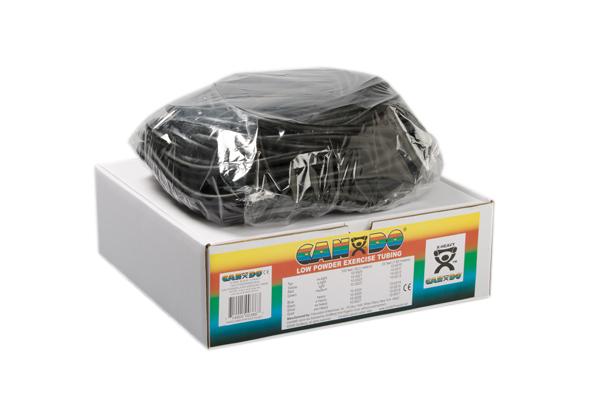 CanDo® Low Powder Exercise Tubing - 100' dispenser roll - Black - x-heavy