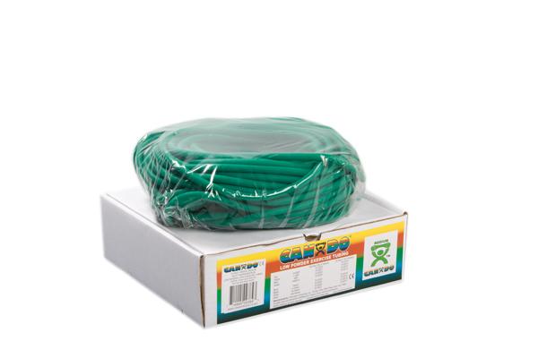 CanDo® Low Powder Exercise Tubing - 100' dispenser roll - Green - medium: