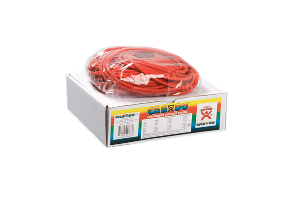 CanDo® Low Powder Exercise Tubing - 100' dispenser roll - Red - light