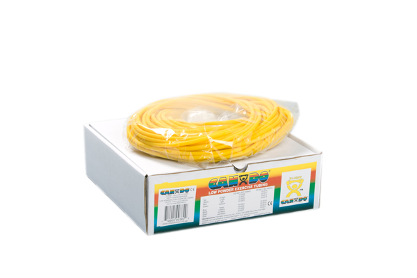 CanDo® Low Powder Exercise Tubing - 100' dispenser roll - Yellow - x-light: