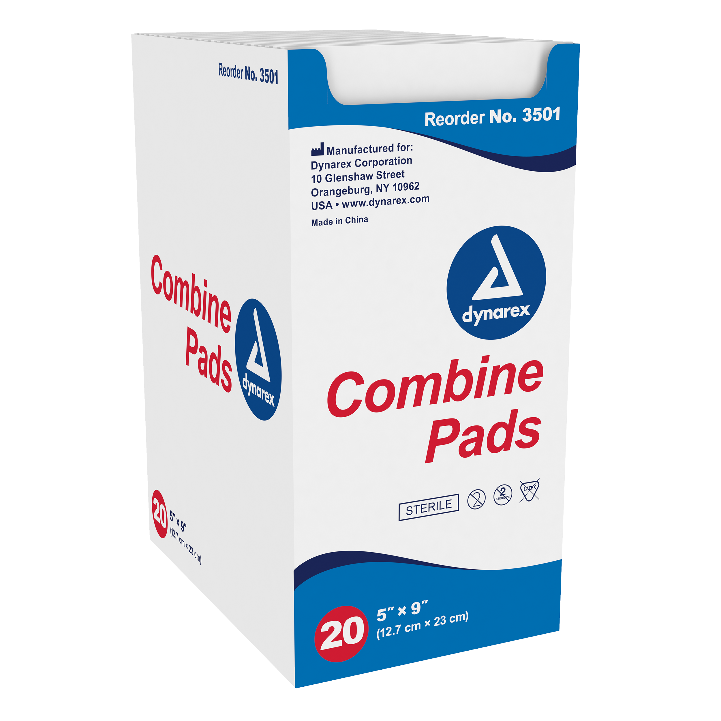 "Combine Pads 1/Pouch - Sterile, 5"" x 9"""