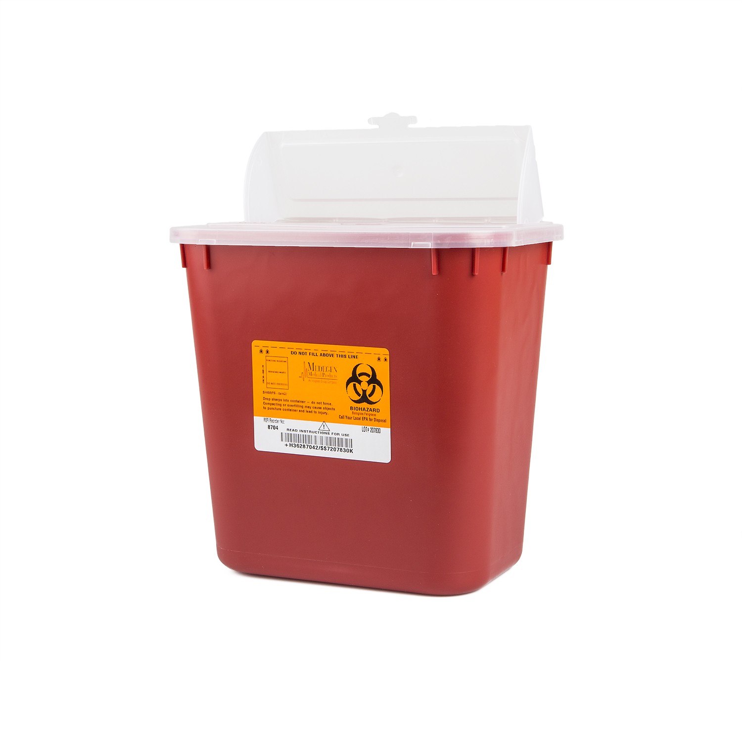 CONTAINER SHARPS 2GALLON RED STACKABLE 24/CSE