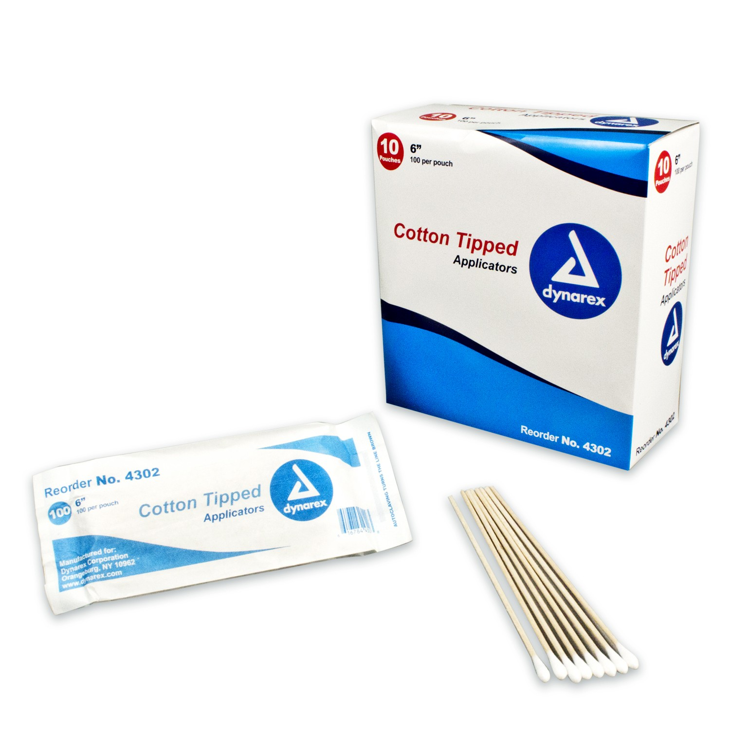 Cotton Tipped Wood Applicators Non-sterile 6""