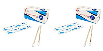 "Cotton Tipped Wood Applicators Sterile, 6"", 10/100/1's/Cs"