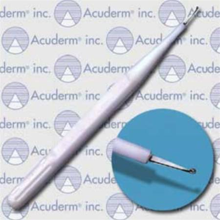 Dermal Curette Acu-Dispo-Curette® 5 Inch Length Single-ended Handle 1 mm Tip Cup Tip