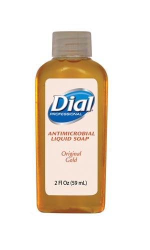 Dial® Antimicrobial Liquid Hand Soap - Gold (2 oz)  48/CSE