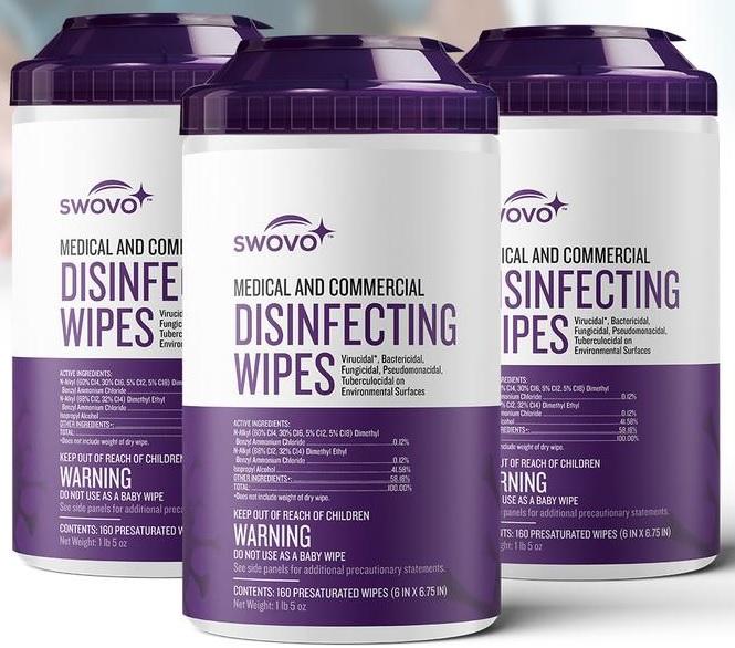 Disinfecting Wipes EPA 160ct 12/cs