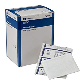 DRESSING TELFA PAD 3X4IN 1'S STERILE ADHESIVE ABSORBENT
