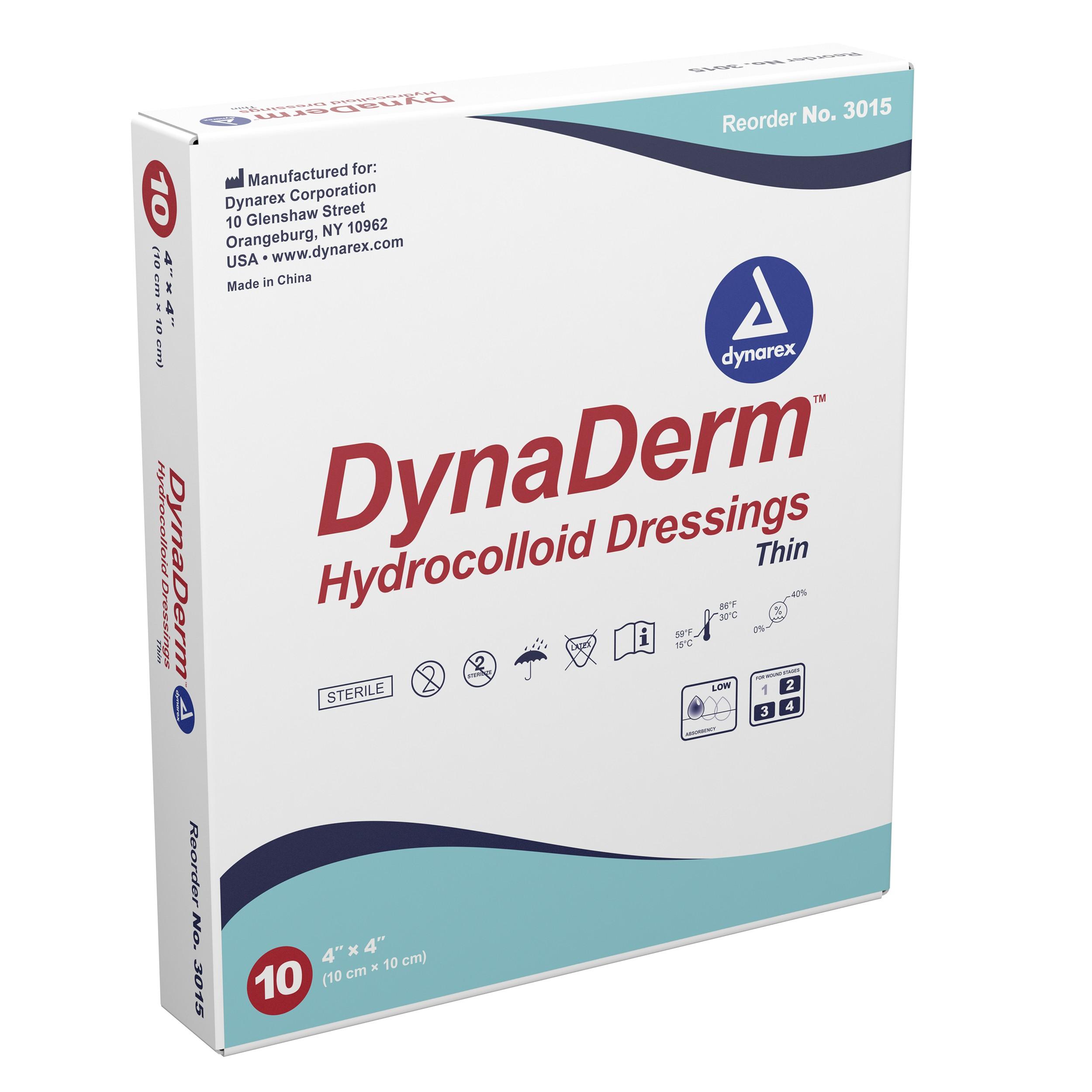 """DynaDerm - Hydrocolloid Dressing - Thin, 2"""" x 2"""" 12/20/Cs"""