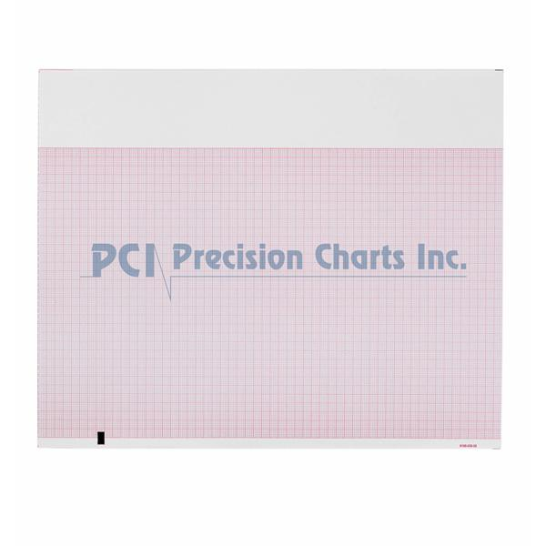 ECG Recording Paper 8-1/2 X 11 Inch Fan-Fold Red Grid