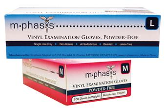 GLOVE EXAM VINYL PF  LARGE