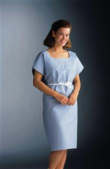GOWN EXAM 3 PLY 30X42 BLUE