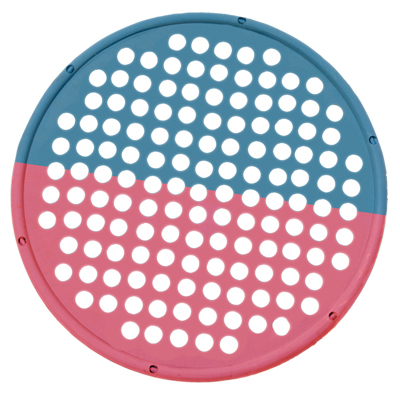 "Hand Exercise Web - Low Powder - 14"" Diameter - multi-resistance, Red/Blue"