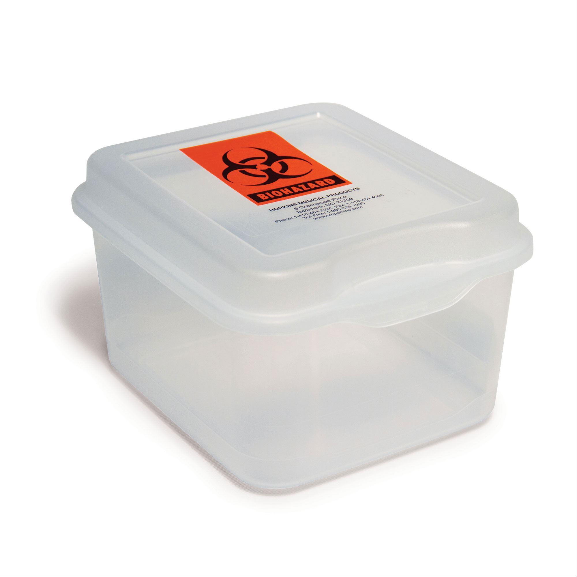 Hard Plastic Biohazard Specimen Container