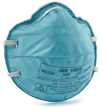 MASK RESPIRATOR PARTICULATE N95 SMALL CUP STYLE TEAL