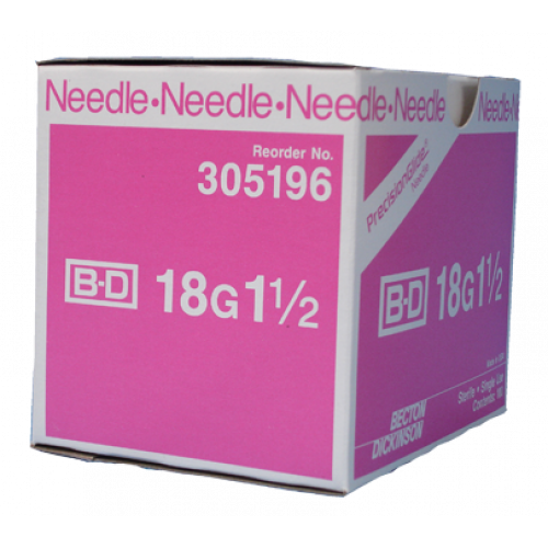 NEEDLE HYPODERMIC 18GX1 1/2IN REGULAR BEVEL STERILE