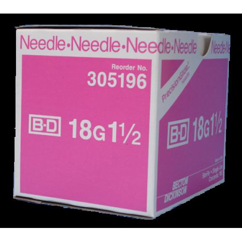 NEEDLE HYPODERMIC 18GX1 1/2IN REGULAR BEVEL STERILE
