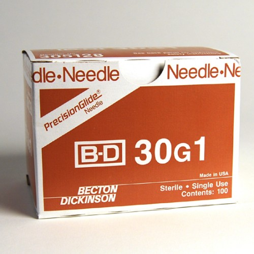 NEEDLE HYPODERMIC 30GX1IN SPECIAL USE REGULAR BEVEL