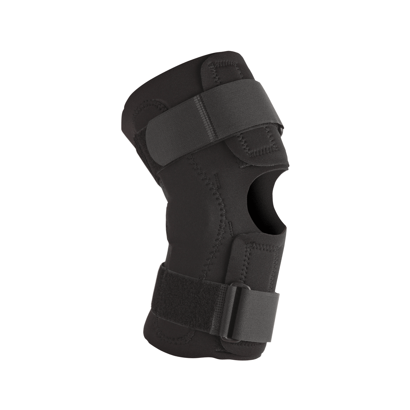 Neoprene wraparound hinged knee supports with removable hinges 3XLRG