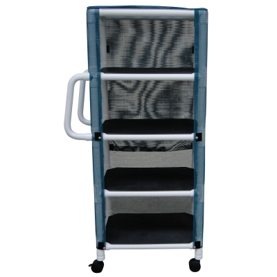 PVC LINEN CART WITH COVER SMALL 4 SHELF