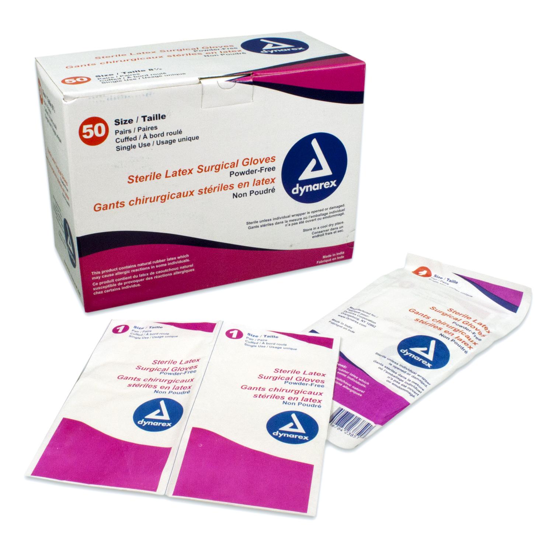 Sterile Latex Surgical Glove Powder Free 7.0