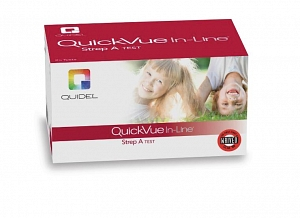 Strep Rapid Diagnostic Test Kit QuickVue® In-Line® Strep A Throat / Tonsil Saliva Sample CLIA Waived 25 Tests