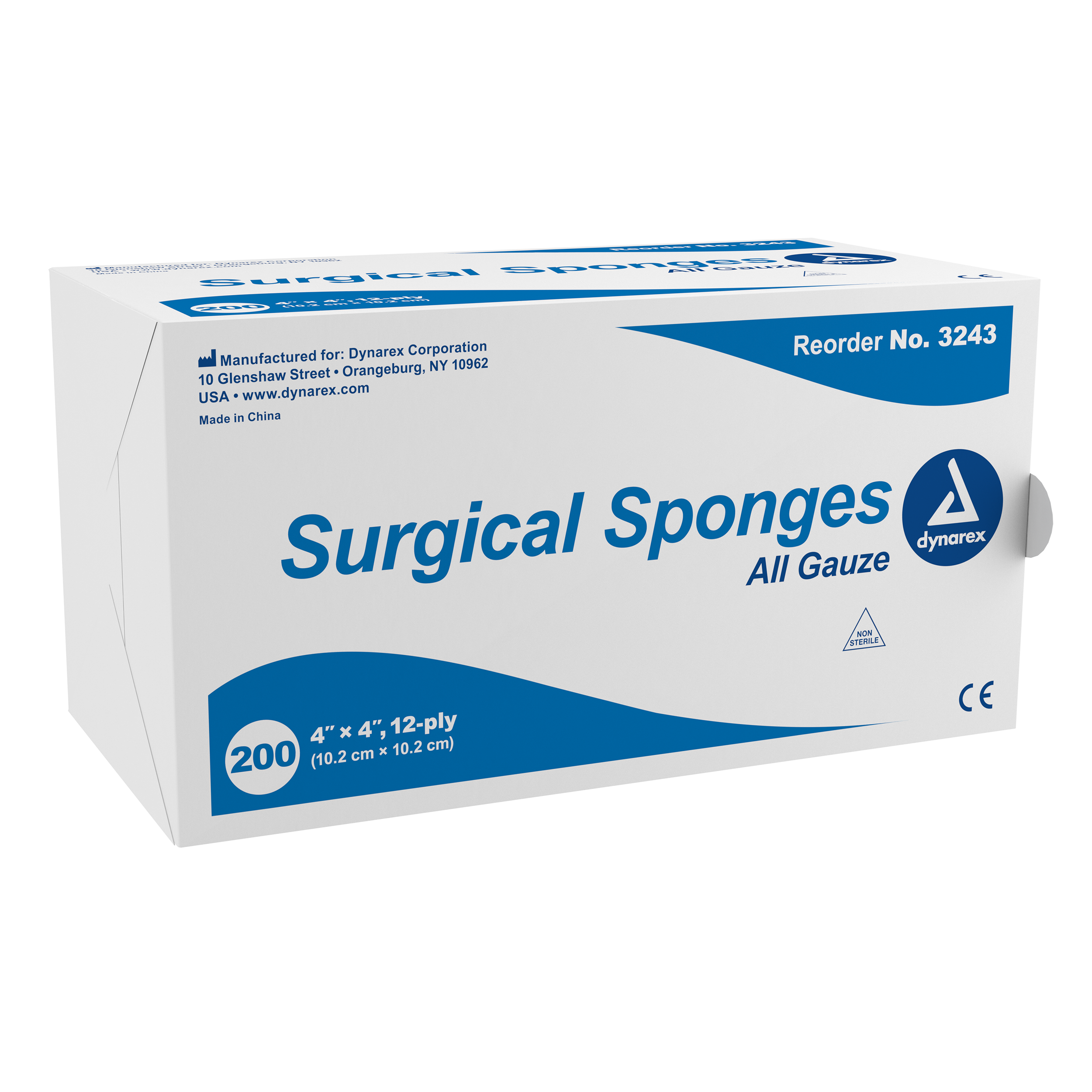 "Surgical Gauze Sponge 4""x 4"" 12 Ply"