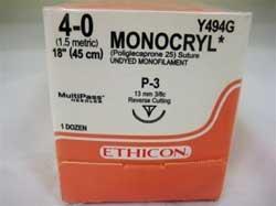 SUTURE MONOCRYL 4/0 UNDYE P-3