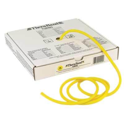 TheraBand® exercise tubing - 25' roll - Yellow - thin: