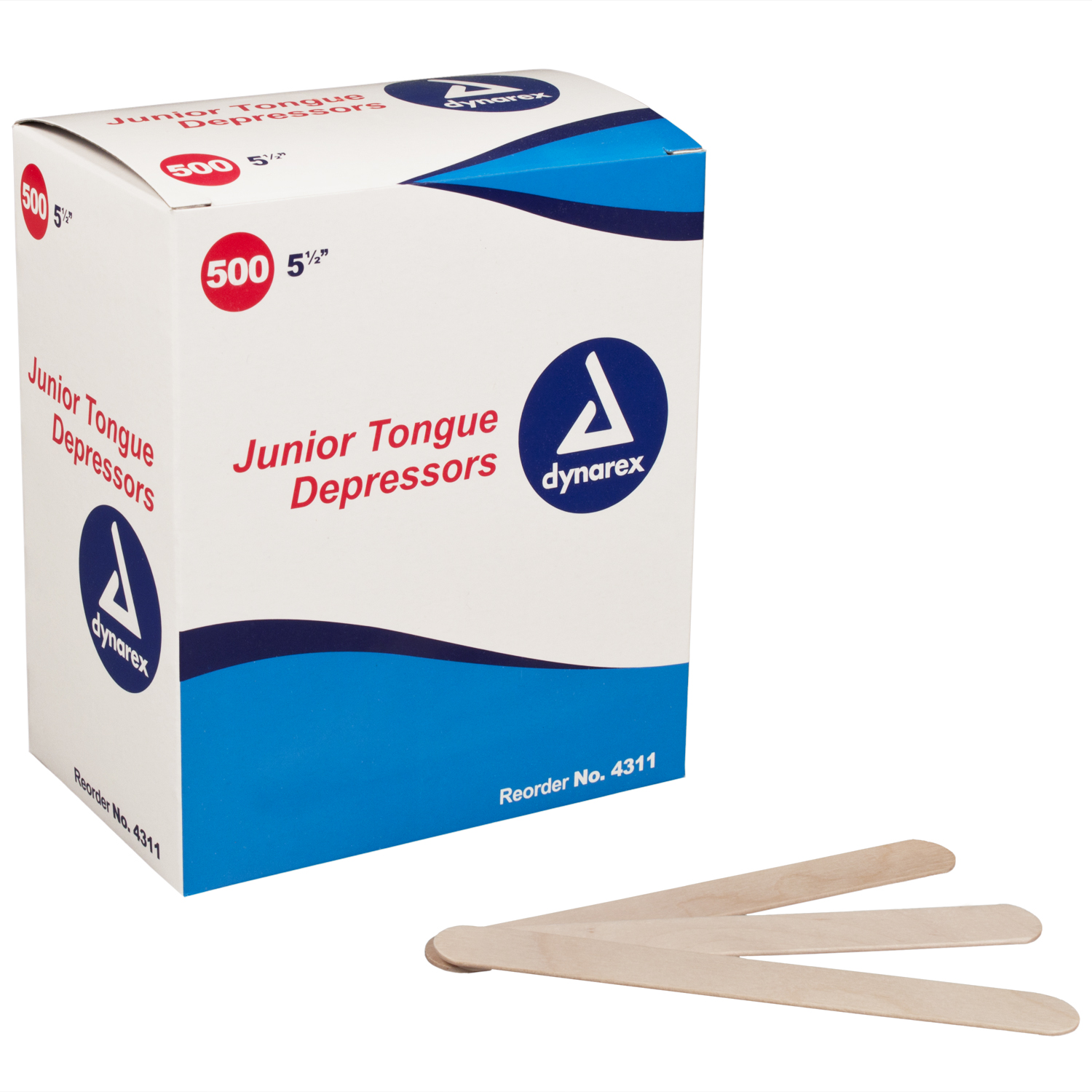 Tongue Depressors Wood, Non-sterile - Junior 5 1/2""