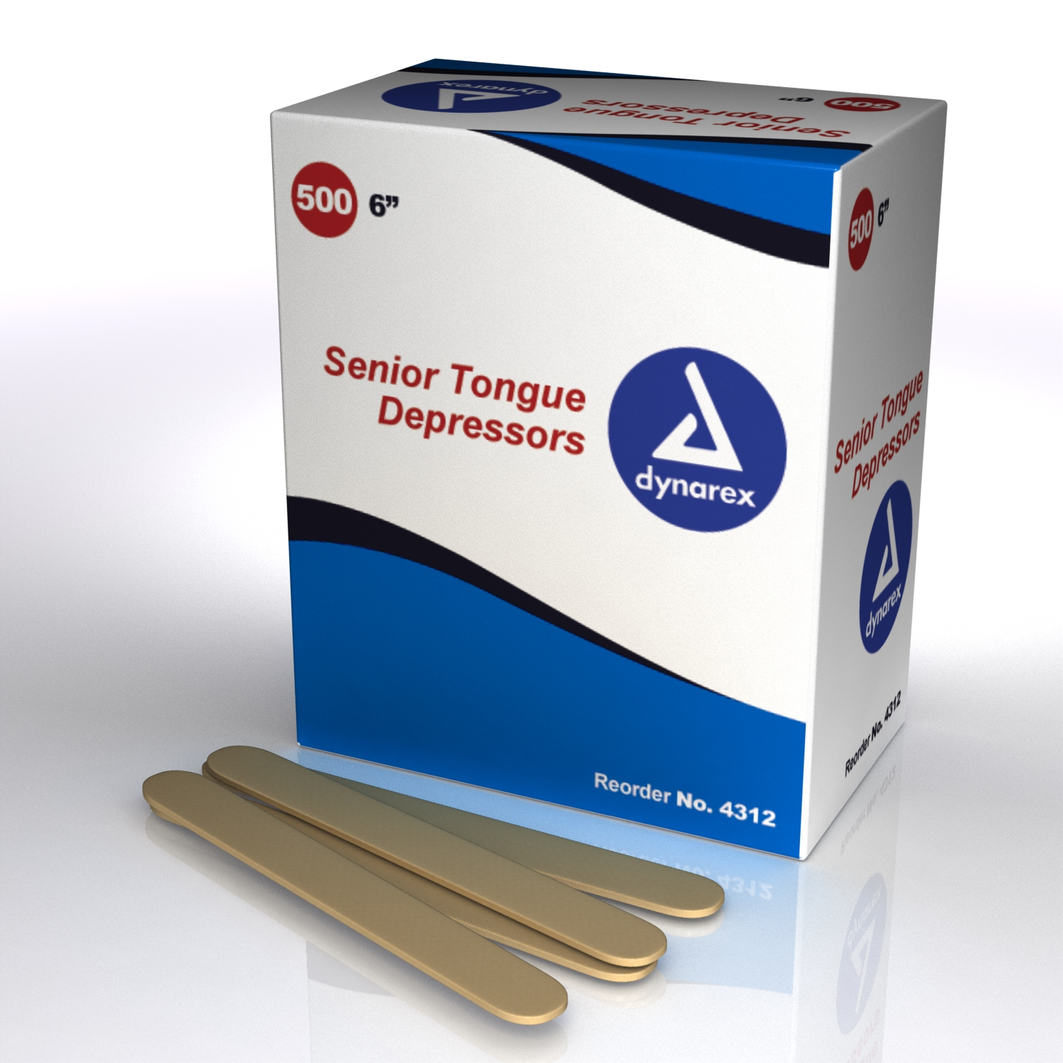 Tongue Depressors Wood, Non-sterile - Senior 6""