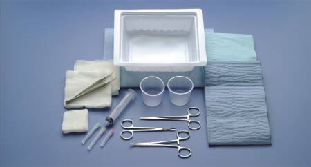 TRAY LACERATION ER W/ FLOOR GRADE STERILE
