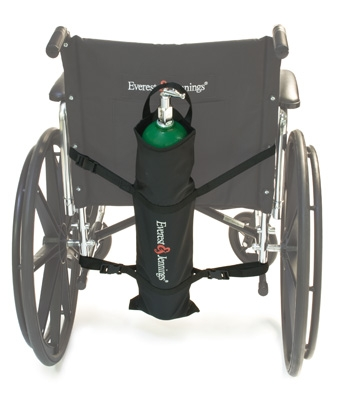 E & J Wheelchair 02 Cylinder Holder Bag, Black